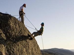 Climbing some rocks here